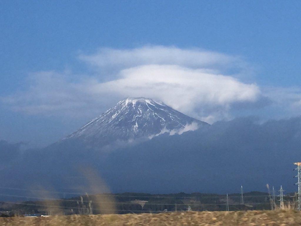 雪の少ない富士山 2016年正月