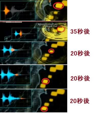 東日本大地震 五連発
