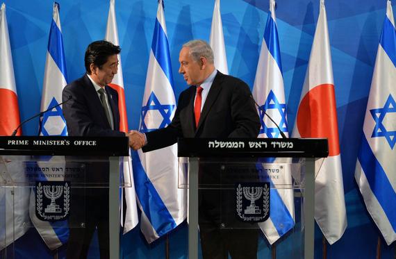 Japanese Prime Minister Shinzo Abe visit to Jersualem, Israel - 19 Jan 2015