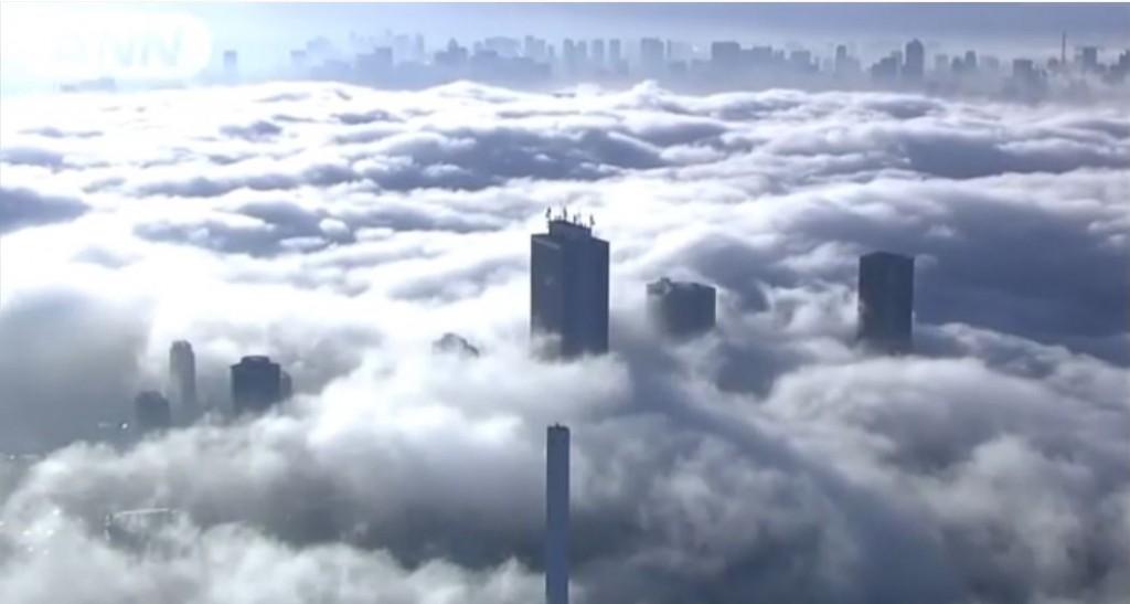 東京濃霧 2015年11月27日